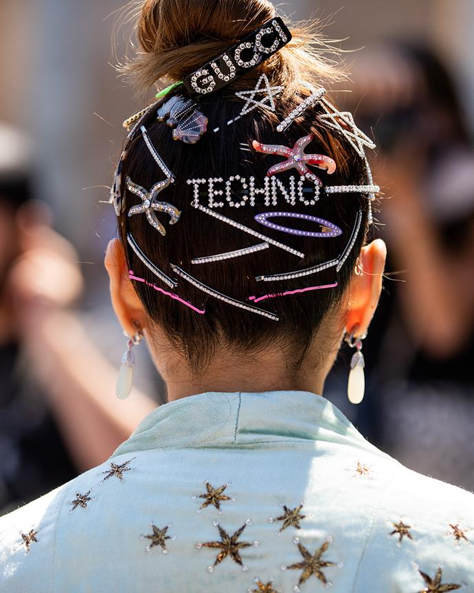 ***Out: Hairclips***<br><br> In 2019, hair clips (pearl-embellished, statement and resin) were the hair accessory du jour, but 2020 will see another retro option take its place.