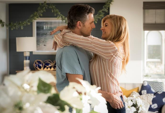 Eric Bana and Connie Britton in Netflix's *Dirty John*.
