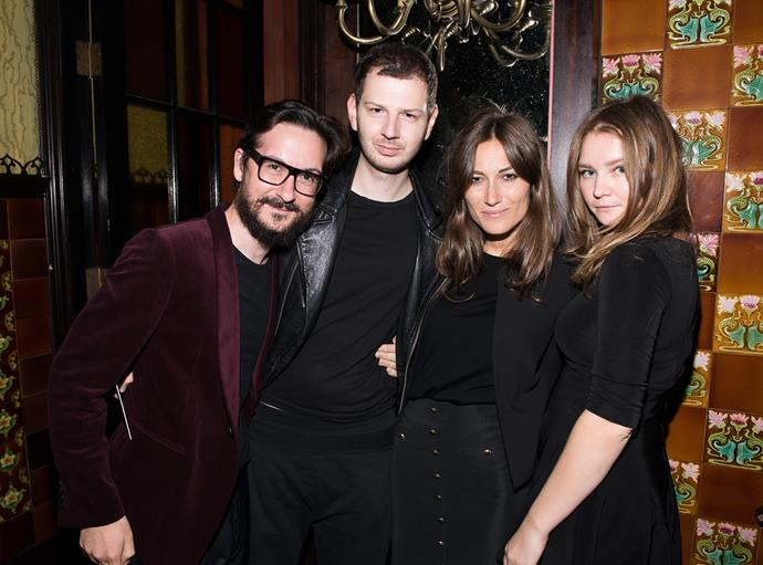 Anna Delvey (far right) with Giudo Cacciatori, Gro Curtis and Giorgia Tordini at the first Tumblr Fashion Honor in 2014.