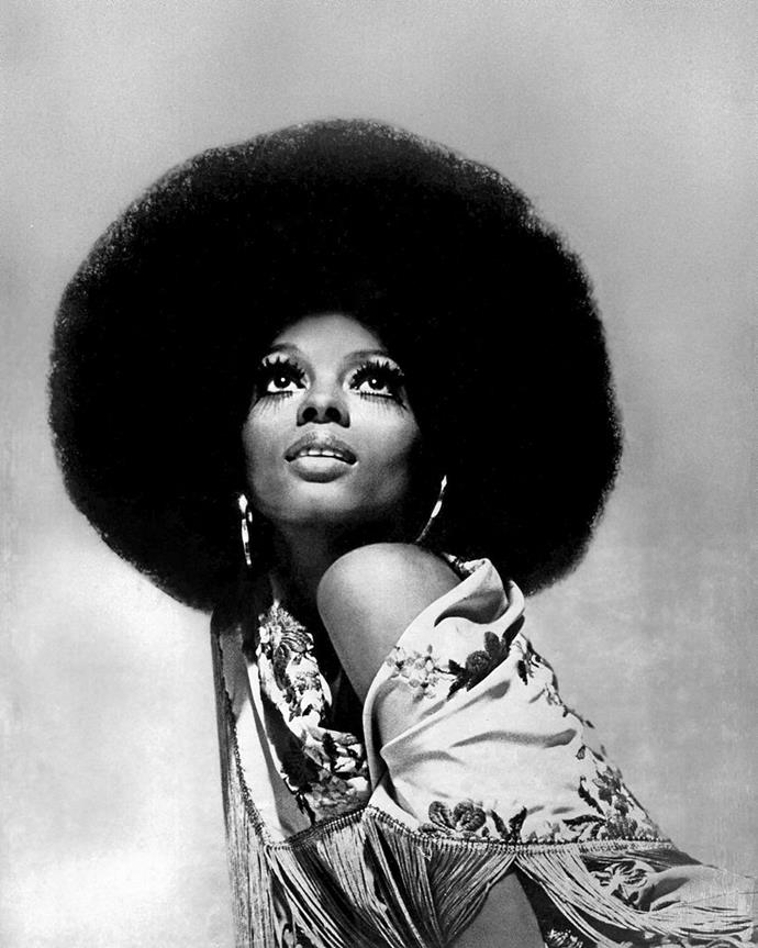 **1975: Diana Ross' bold Afro**<br><br>
