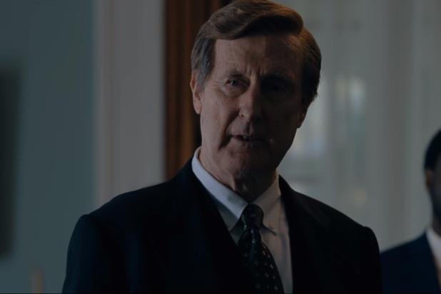 John Cromwell playing Doug Coe in *The Family* on Netflix. *Image via Netflix*.
