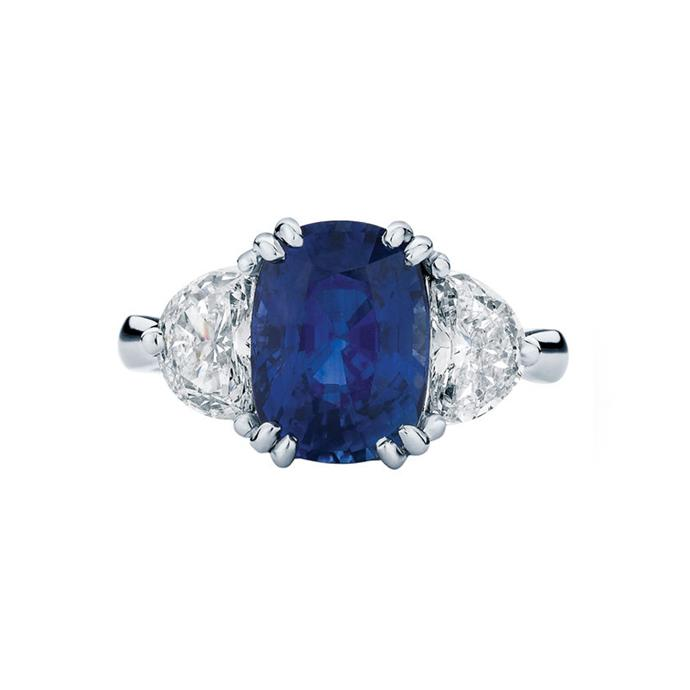 "Sapphire and white diamond ring, POA at [Larsen Jewellery](https://www.larsenjewellery.com.au/engagement-rings/sapphire/grace-white-gold|target=""_blank""