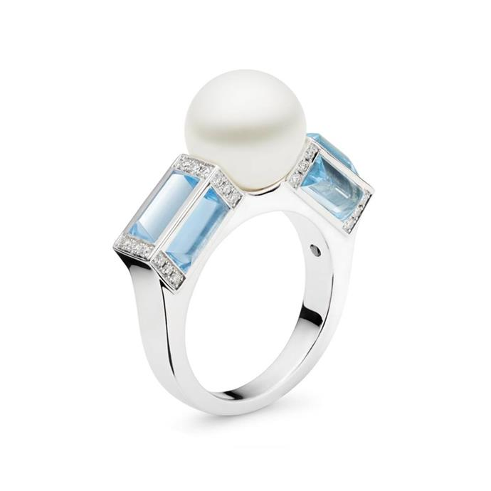 "Pearl and blue topaz ring, $6,995 by [Kailis](https://www.kailisjewellery.com.au/sugarloaf-ring.html|target=""_blank""