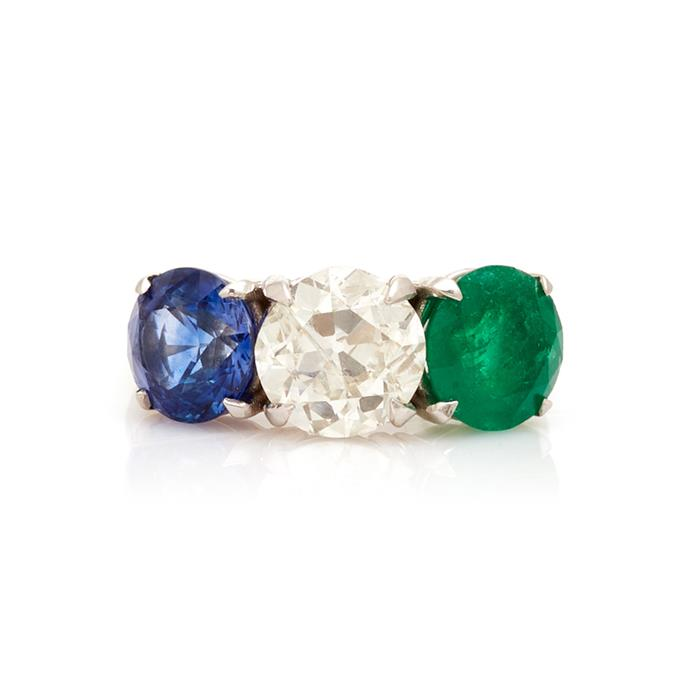 "Sapphire, diamond and emerald ring by Maria Jose Jewellery, $34,020 at [Moda Operandi](https://www.modaoperandi.com/maria-jose-jewelry-fw19/18k-gold-and-multi-stone-ring|target=""_blank""