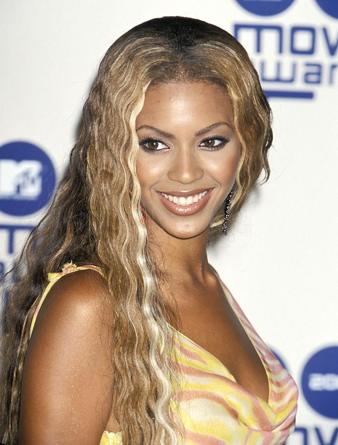 **2000: Beyoncé's stripey two-tone highlights**<br><br>