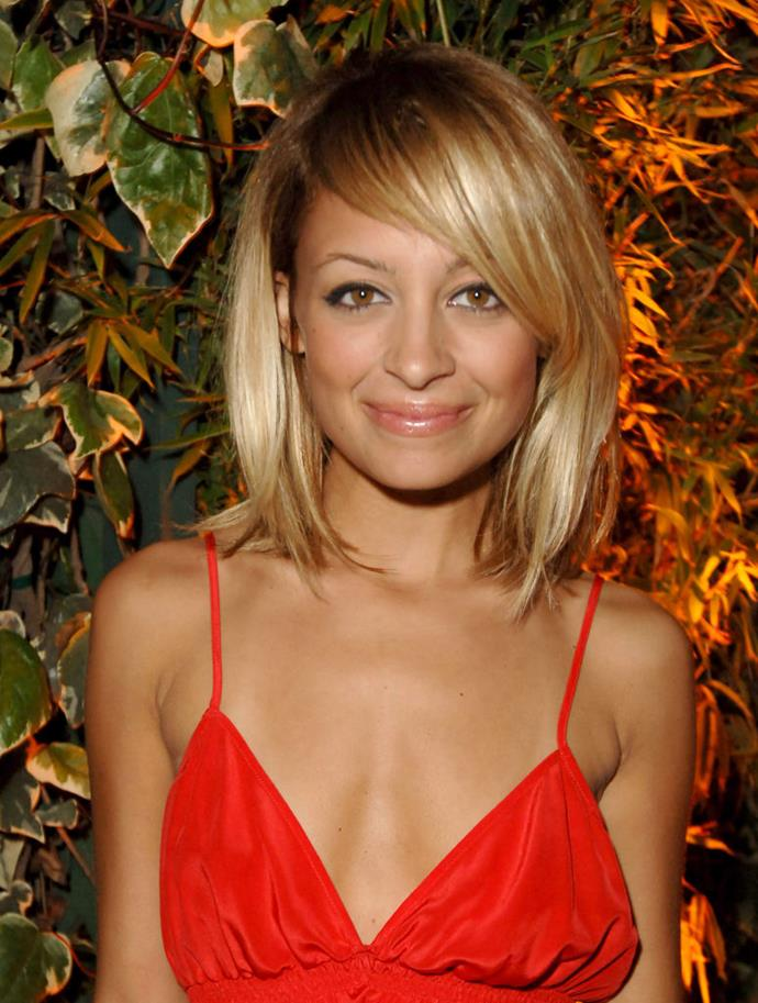 **2005: Nicole Richie's long side fringe**