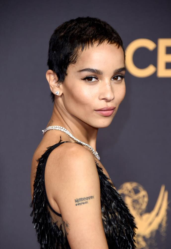 **2017: Zoë Kravitz's ultra-short pixie**