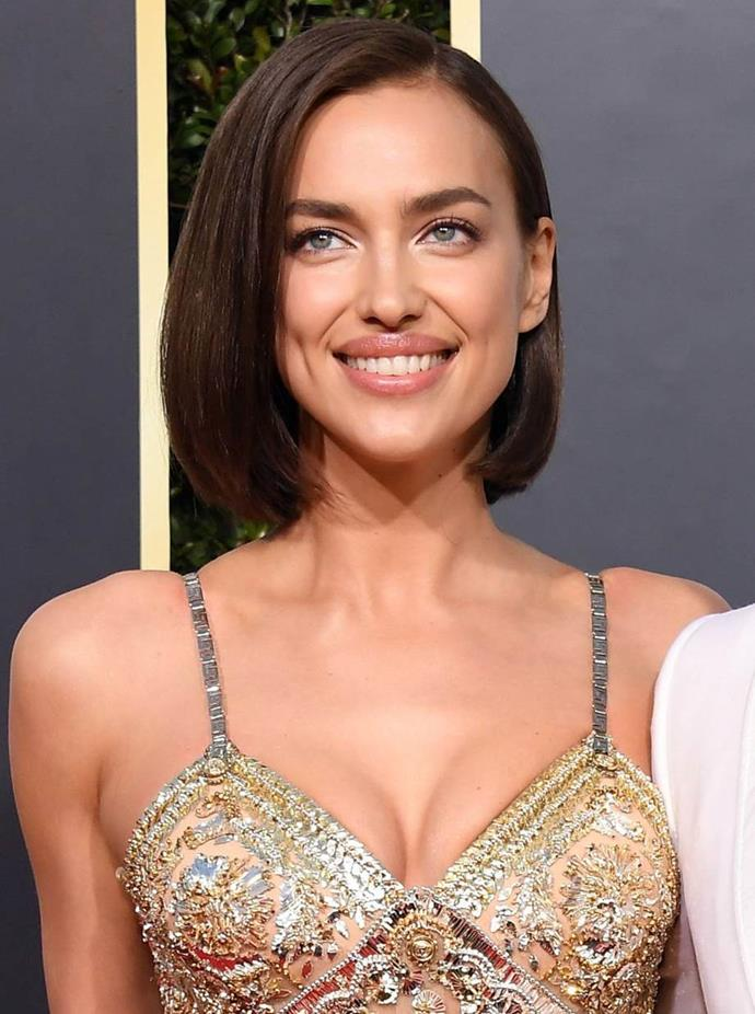 **2019: Irina Shayk's 'glass hair' power bob**<br><br>