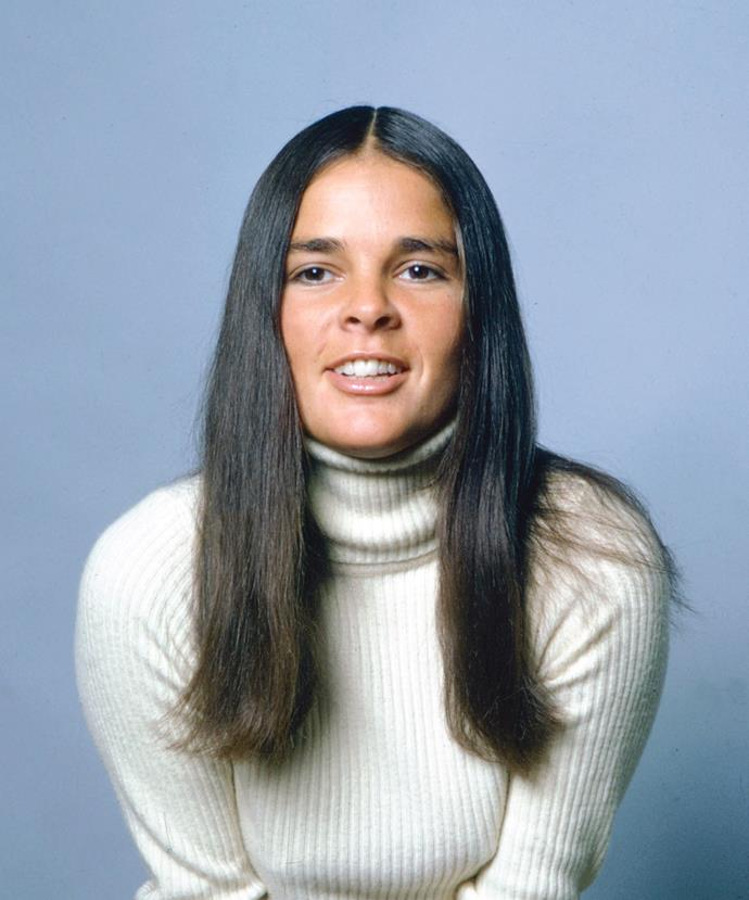 **1970: Ali McGraw's sleek centre part**