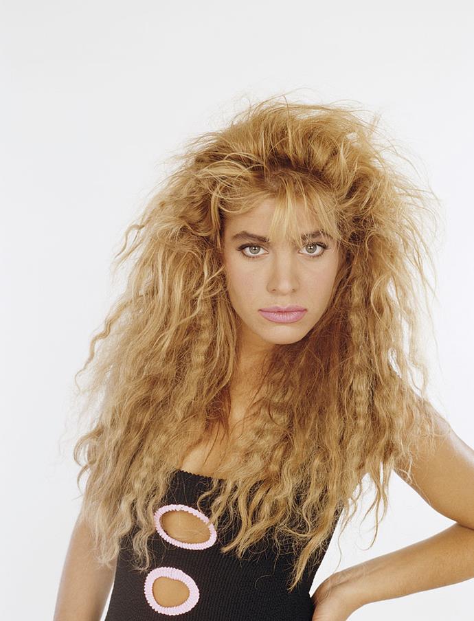**1986: Taylor Dayne's crimped strands**