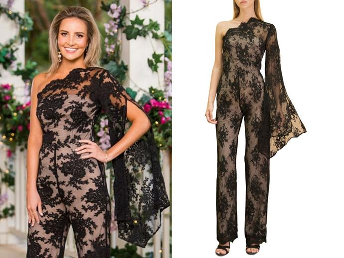 "Kristen wears the 'Annabell Jumpsuit by Bronx and Banco, now $250 from [Myer](https://www.myer.com.au/p/bronx-banco-annabell-jumpsuit|target=""_blank""