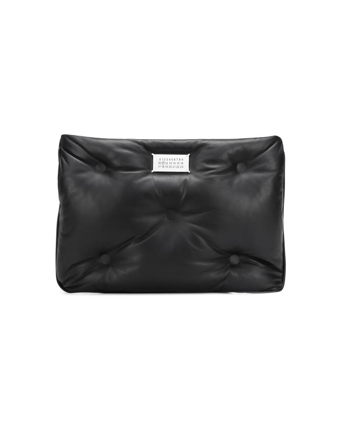 "*A puffed-up clutch*<br><br> Clutch by Maison Margiela, $1,399 at [MyTheresa](https://www.mytheresa.com/en-au/maison-margiela-glam-slam-leather-clutch-1294732.html|target=""_blank""