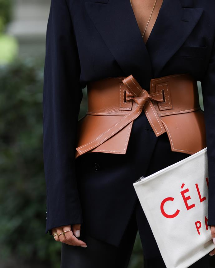 *The obi belt*<br><br> Loewe's soft-as-butter obi belt has been spotted wrapped around the waists of street style stars the word over. Add yours over a suit or simple tee.