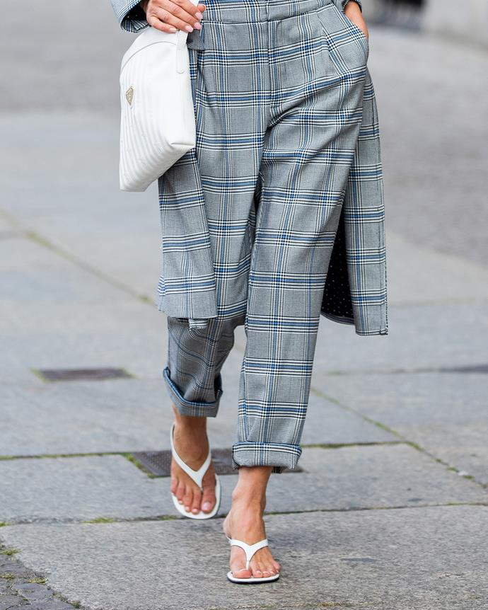 *Heeled thongs*<br><br> We know the flat versions well (mainly for pedicure appointments and servo runs), but summer 2020 will see an influx of heeled thongs. The ultimate minimalist footwear choice.
