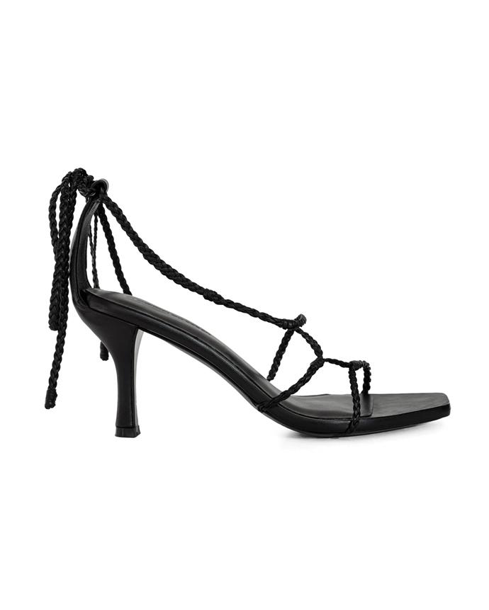 "*Strappy sandals*<br><br> Sandals by Christopher Esber, $675 at [The Undone](https://www.theundone.com/collections/shoes/products/braided-strappy-heels|target=""_blank""
