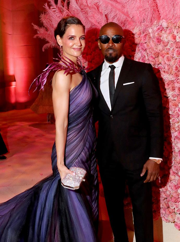"**Katie Holmes and Jamie Foxx**<br><br> According [to reports](https://www.harpersbazaar.com.au/celebrity/katie-holmes-jamie-foxx-split-19137|target=""_blank""), Katie Holmes and Jamie Foxx quietly split in May after six years of dating."