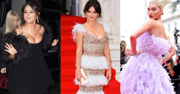 10 Red Carpet Feather Dresses That We're Obsessed With | Harper's BAZAAR Australia
