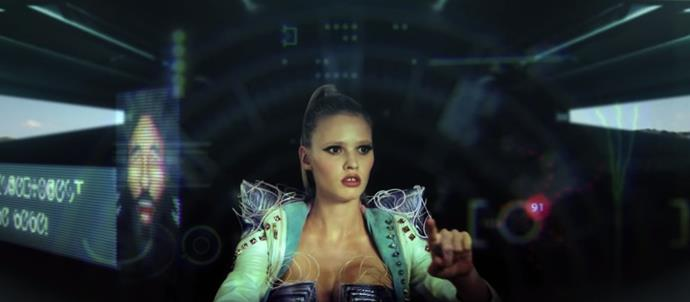 "**Lara Stone in Hot Chip's video for ""Night & day""**<br><br>  Electro pop group Hot Chip tapped Dutch supermodel Lara Stone to star as an intergalactic creature invading earth in the ultra-conceptual video for their 2012 track ""Night & Day"".<br><br>  *Watch the video [here](https://www.youtube.com/watch?v=fxg2JbWA7Nk