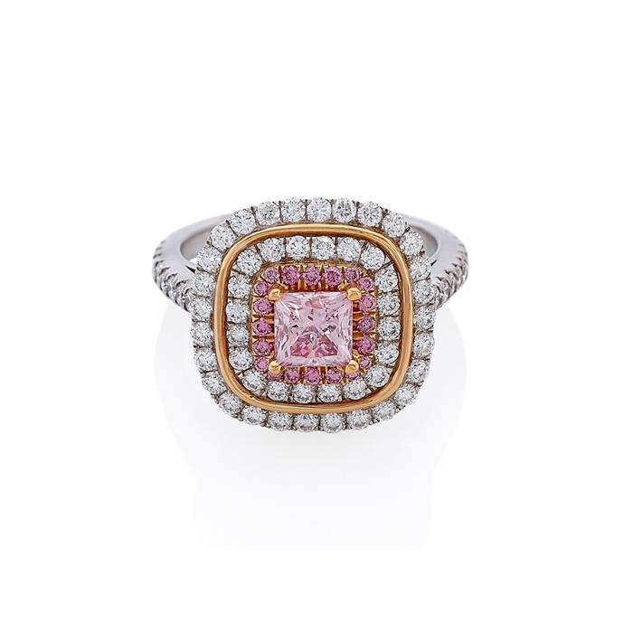 "Rose and white gold ring with pink diamond, POA by [Cerrone](https://www.cerrone.com.au/high-jewellery/18ct-rose-and-white-gold-white-and-pink-diamond-ring/|target=""_blank""