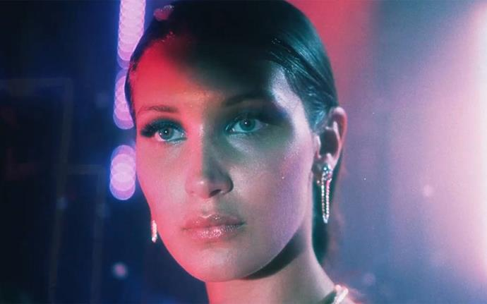 "**Bella Hadid in The Weeknd's video for ""In The Night""**<br><br>  Bella Hadid embodied a [""stripper assassin""](https://www.etonline.com/music/177660_the_weeknd_super_bloody_in_the_night_music_video_stars_girlfriend_bella_hadid_as_a_stripper_assassin