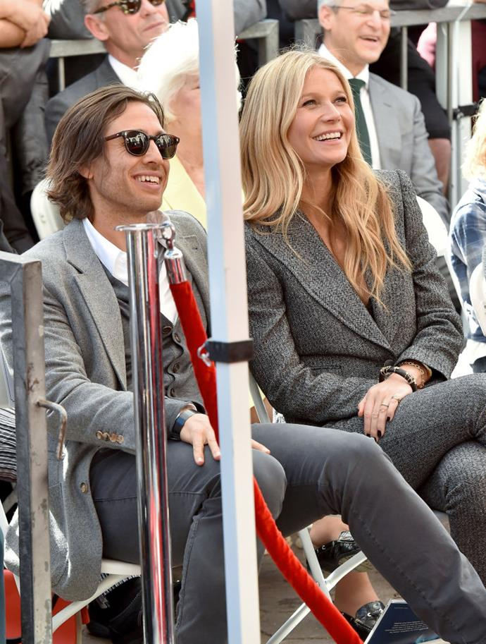 "**Gwyneth Paltrow and Brad Falchuk** <br><br> After 13 years of marriage to Coldplay front-man Chris Martin, [Gwyneth Paltrow](https://www.harpersbazaar.com.au/fashion/gwyneth-paltrow-goop-swimwear-18725|target=""_blank"") married TV producer Brad Falchuk in 2018. While the couple often post about one another on Instagram, their public appearances are few and far between, and they reportedly didn't [move in](https://www.harpersbazaar.com.au/celebrity/gwyneth-paltrow-brad-falchuk-move-in-19072