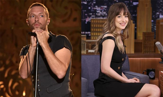 **Chris Martin and Dakota Johnson** <br><br> Throughout their two-year on-and-off relationship, Chris Martin and actress Dakota Johnson have never made a public appearance together, despite Johnson being photographed out and about with Martin and Gwyneth Paltrow's children.