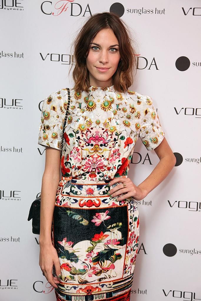 "**Alexa Chung wearing Mary Katrantzou to the 2011 CFDA Awards**<br><br>  London-based designer Mary Katrantzou's rising fame [reached feverish heights](https://www.glamour.com/story/celebrity-obsession-of-the-mom-2|target=""_blank"") in 2011, after longtime supporter Alexa Chung was seen wearing one of her delicate digital print dresses to the 2011 CFDA Awards."