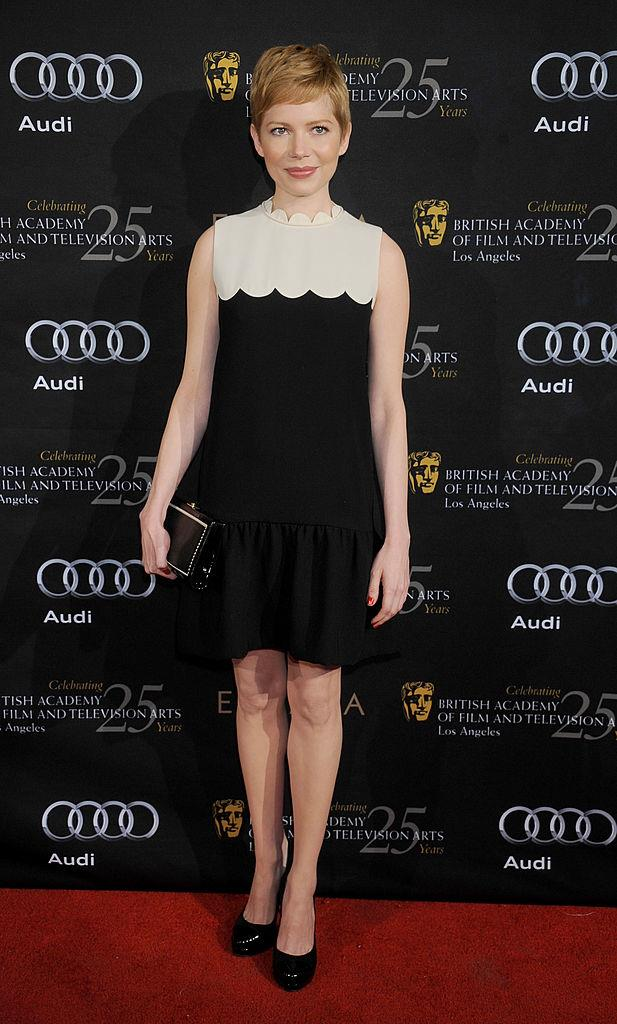 "**Michelle Williams wearing Victoria Beckham to the 2012 BAFTA Annual Awards Season Tea Party**<br><br>  It was still relatively early times for Victoria Beckham's eponymous label, but after Michelle Williams was seen wearing one of her minidresses to the 2012 BAFTA Awards Annual Season Tea Party, the $900 ensemble reportedly [sold out](https://stylecaster.com/10-celebrities-whove-caused-fashion-items-completely-sell/slide3|target=""_blank""