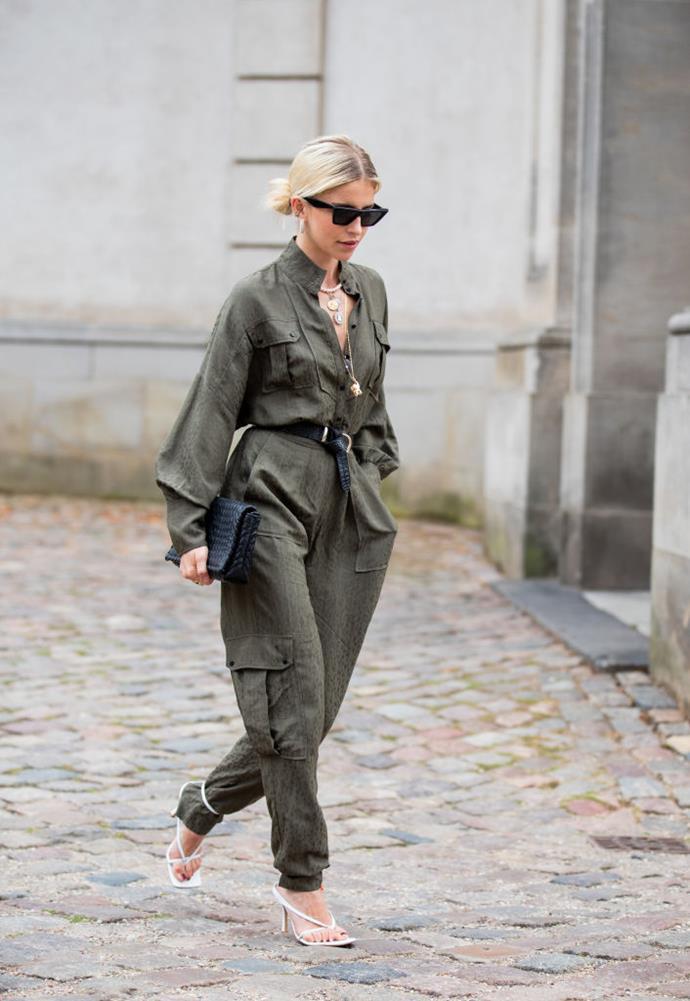 Blogger Caroline Daur at Copenhagen Fashion Week spring/summer 2020.