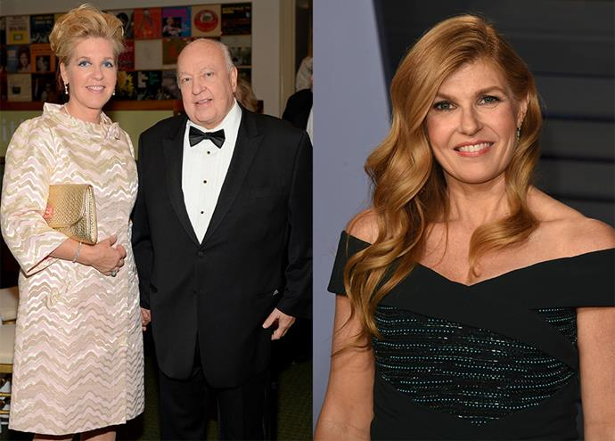 Beth Ailes, Roger Ailes' wife, played by Connie Britton (right).