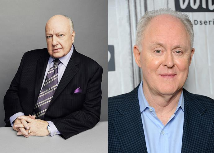 Roger Ailes (Left), the late Fox News boss, played by John Lithgow.