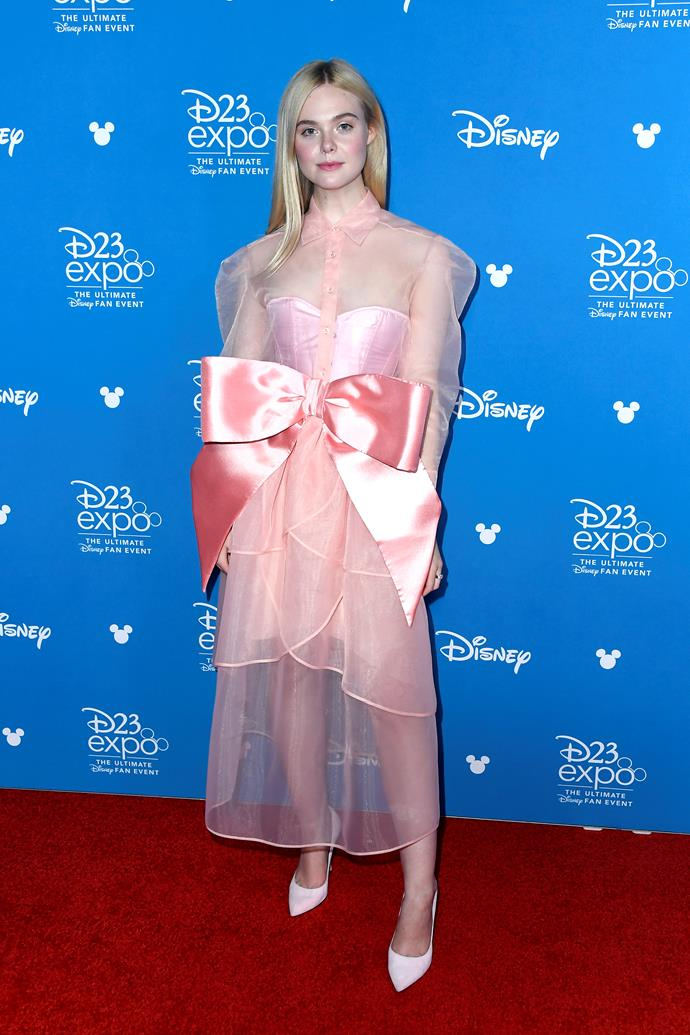 Elle Fanning at the 2019 Disney D23 Expo.