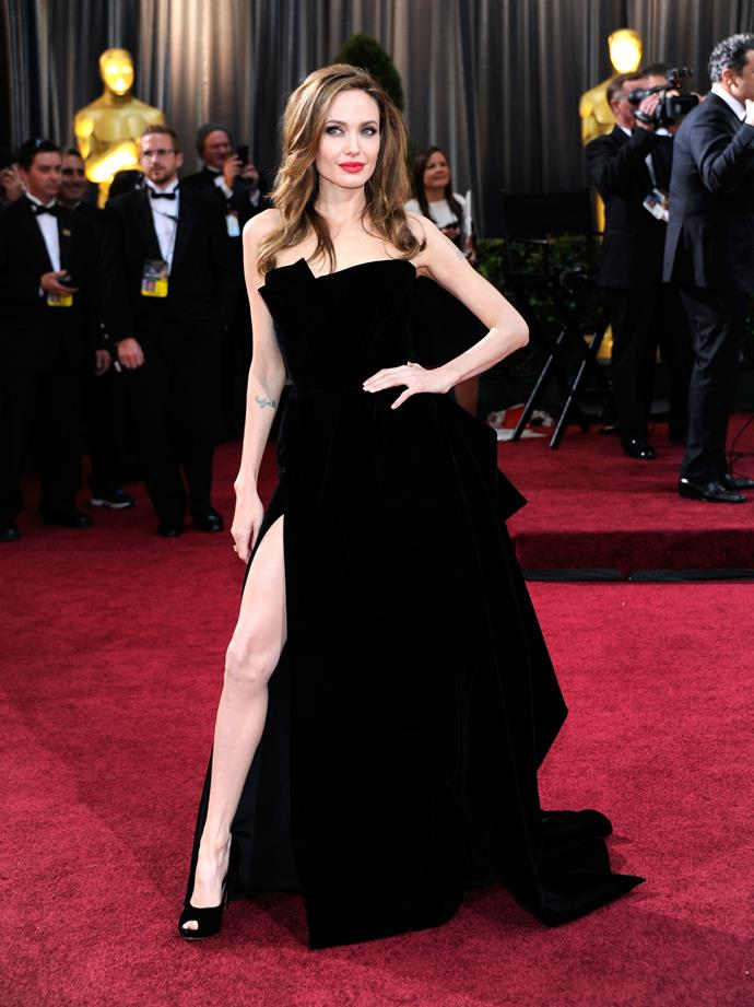 Angelina Jolie at the 84th Annual Academy Awards in 2012.