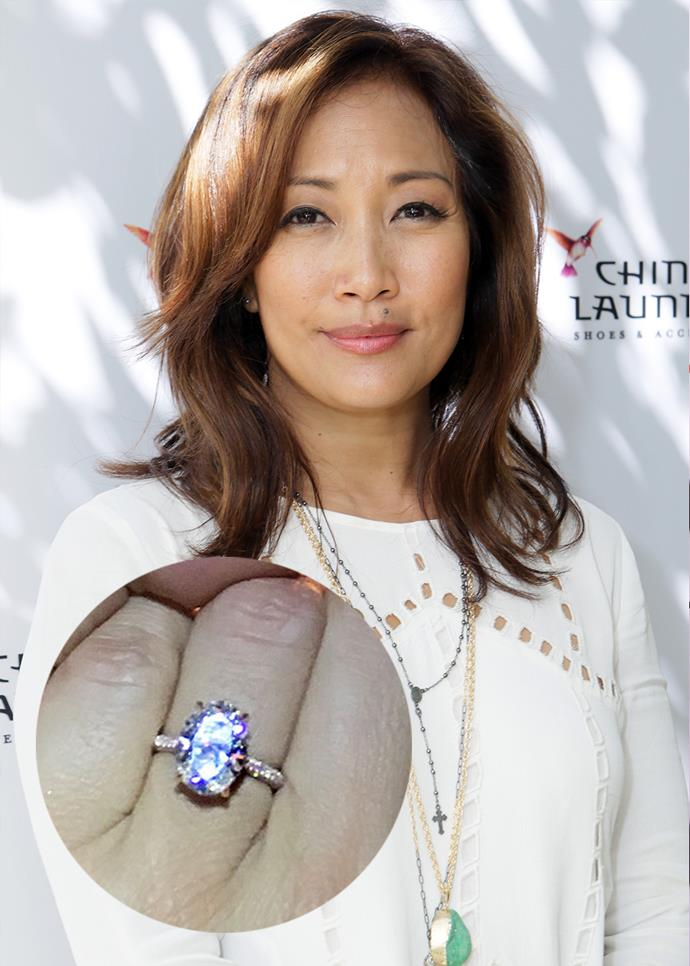***Carrie Ann Inaba***<br><br> Robb Derringer gifted *Dancing With The Stars* judge Carrie Ann Inaba with this 3.68-carat ring.