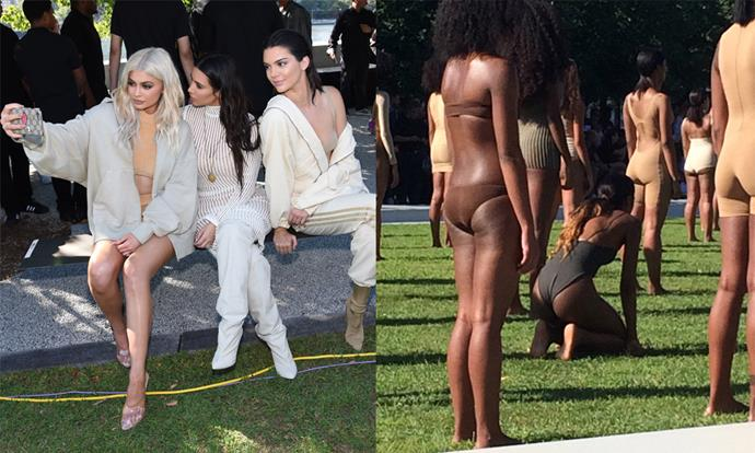 "**Yeezy Season 4 (2016)** <br><br> Kanye West's fourth Yeezy fashion show was held on Roosevelt Island near Manhattan, and was plagued by major technical problems. Held on one of summer's hottest days, the show started two hours late, after attendees were shuttled to the event on crowded buses from the city. <br><br>  When the show did start, part of the minimal ivory runway collapsed, and *New York Times* fashion critic Vanessa Friedman photographed a model sitting down during the presentation due to presumed overheating. However, the weather didn't seem to stop attendees like the Kardashian-Jenners from wearing thick, padded garments to the show, all by Yeezy. <br><br> *Images: Getty/Twitter [@VVFriedman](https://twitter.com/VVFriedman/status/773615728180260864|target=""_blank""