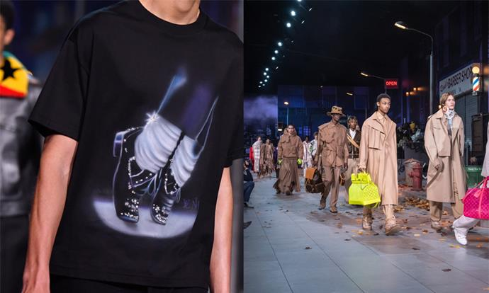 "**Louis Vuitton Menswear autumn/winter '20 (2019)** <br><br> While Louis Vuitton Menswear creative director Virgil Abloh's Michael Jackson-themed collection was undoubtedly cool, it was struck by a case of bad timing—dropping around the same time as the *Leaving Neverland* documentary, which included new allegations of sexual abuse levelled at the late star. <br><br> Louis Vuitton removed certain garments with overt references to Jackson from stores. Abloh later said his intention was only ""to refer to Michael Jackson as a pop culture artist"", and told *[WWD](https://wwd.com/fashion-news/fashion-scoops/louis-vuitton-addresses-michael-jackson-controversey-1203084577/