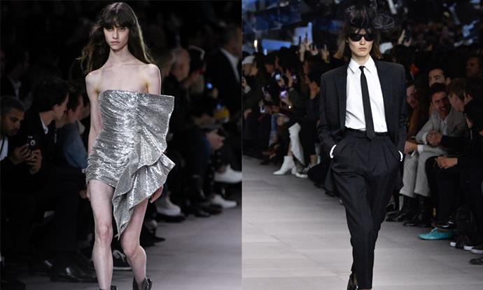 "**Celine spring/summer '19 (2018)** <br><br> Ex-YSL creative director Hedi Slimane's reinvention of Celine was one of the most anticipated shows on the fashion month roster, and drew an unexpectedly divided response. While some appreciated the club-ready collection, others considered it too dramatic a departure from the work of ex-creative director, Phoebe Philo, whose collections garnered acclaim. <br><br> Following the show, the reclusive designer spoke out in a rare [response to the backlash](https://www.harpersbazaar.com.au/fashion/celine-hedi-slimane-17453|target=""_blank""), and claimed ""latent homophobia"" could be a reason for the criticism. <br><br> *Images: Getty*"
