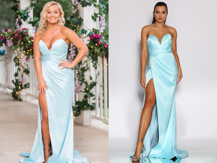 Elly in the 'JX2013' gown by J'Adore Evening, in episode six.