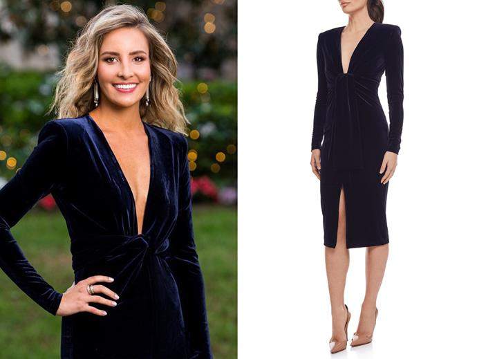 "Kristen in the 'Tahlia' dress, $252 by [Bianca and Bridgett](https://biancaandbridgett.com/products/tahlia|target=""_blank""