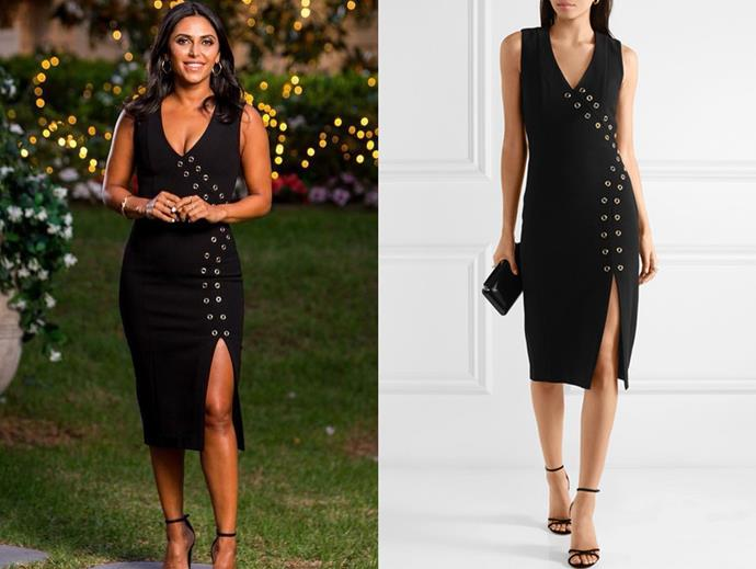 "Sogand wears the 'Adriatic' eyelet dress by Rebecca Vallance, $425 at [NET-A-PORTER](https://www.net-a-porter.com/au/en/product/1058702|target=""_blank""