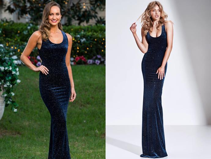 """Emma wears the 'Lov' dress, $599 by [Gemeli Power](https://www.gemelipower.com/collections/jimmy-lee-collection/products/lov