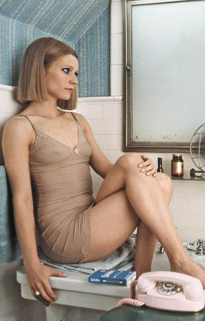 Gwyneth Paltrow in a nude slip in *The Royal Tenenbaums* in 2001.