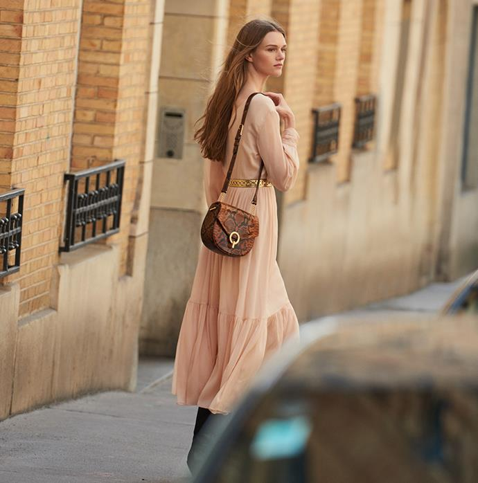 "Dress by [Sandro](https://www.sandro-paris.com.au/new-in/long-pleated-dress-with-long-sleeves-nude/?utm_source=article&utm_medium=native_article&utm_campaign=Harpers_bazaar_the_prairie_trend&utm_term=new_fall_winter_collection|target=""_blank""