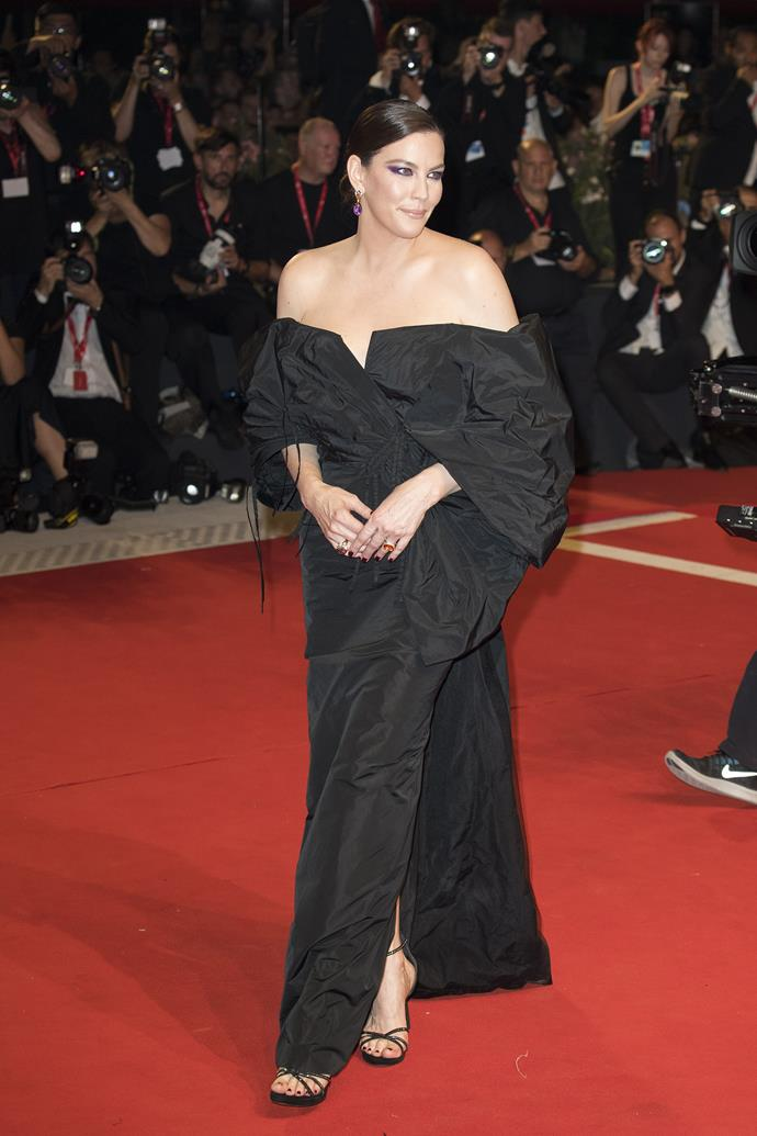 "**Liv Tyler in Givenchy Haute Couture** <br><br> ""The proportions and volume of this dress are so incredible, but I loved how it was black to add an effortlessness feel to the look."" —*Caroline Tran, Fashion Editor*"