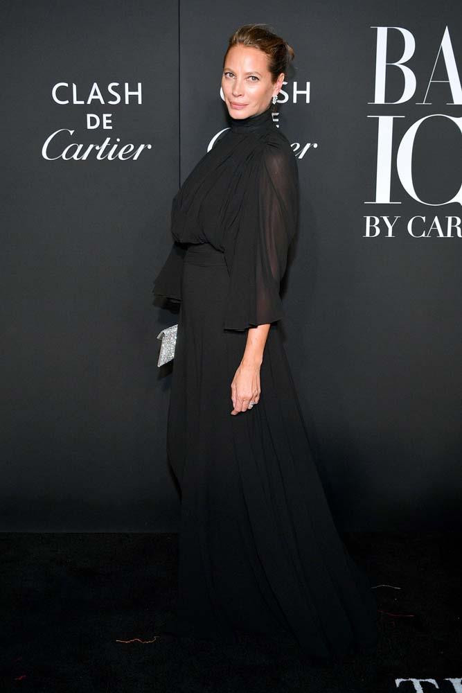 "Christy Turlington wearing [Cartier jewellery](https://www.cartier.com/|target=""_blank""