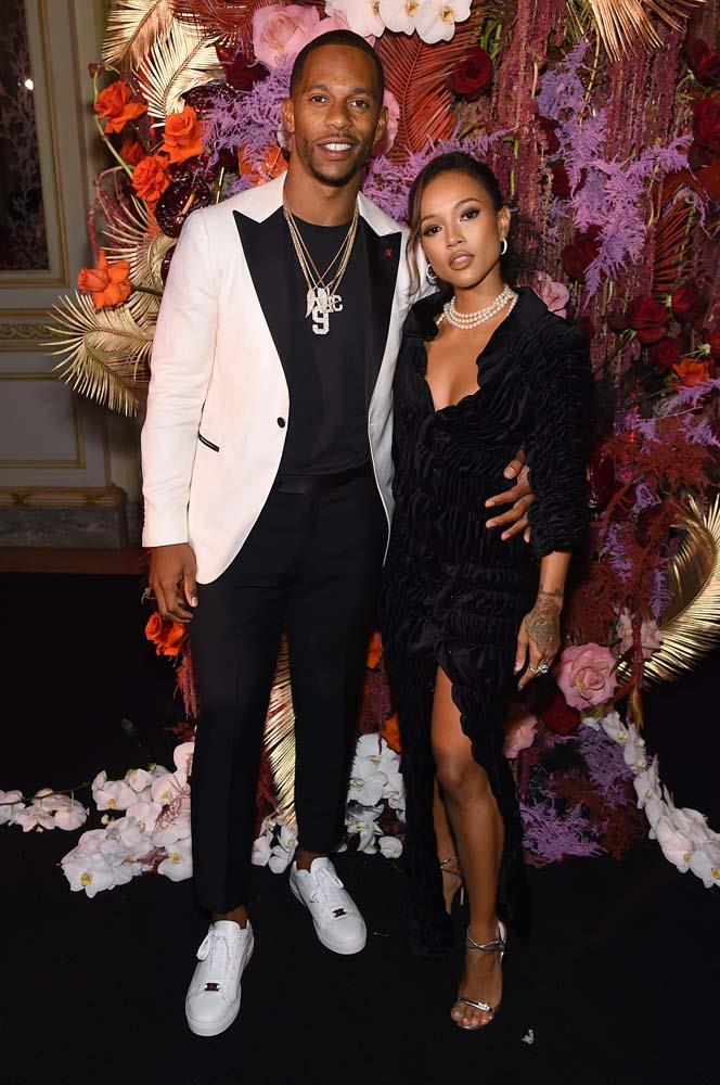 Victor Cruz and Karrueche Tran.