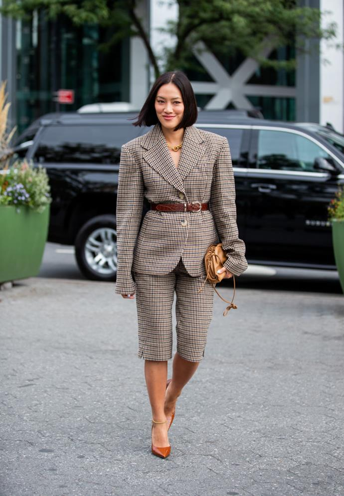 "***Can you wear a short-suit to a smart casual wedding?***<br><br>  Not a fan of skirts? Luckily, the smart casual wedding lends itself to one of fashions' favourite trends right now: the short-suit.<br><br>  ""The short-suit is the ultimate transitional outfit and will blend seamlessly between seasons. However, if you plan on wearing one to a wedding, you do need to bear in mind the other variables like location, venue and guests,"" said Nina.<br><br>  ""If you were to venture into the short-suit zone, keep the shorts impeccably tailored and longer in length towards the knee. Ensure the fabric is luxurious and holds structure. Match it with sophisticated heels and the chunky chain-strap bag to bring out the 'bold' in your look."""