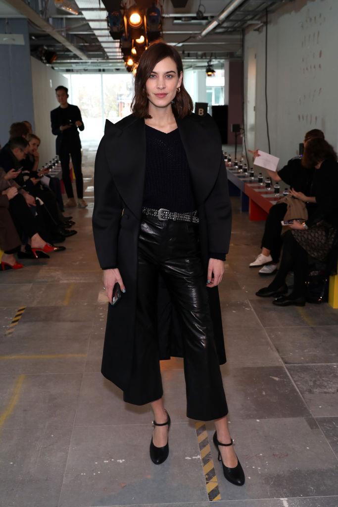 Alexa Chung at London Fashion Week in February 2019.