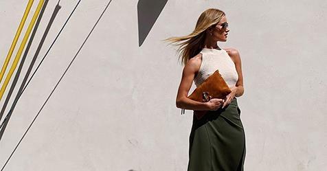 Rosie Huntington-Whiteley Wears A $39.95 Mango Top | Harper's BAZAAR Australia