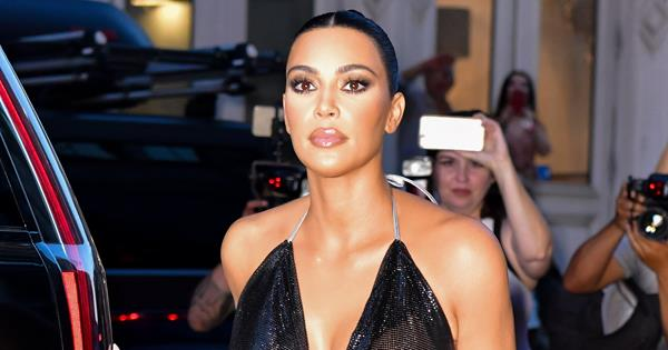 Kim Kardashian Wears A Completely Sheer Top For NYFW Outing | Harper's BAZAAR Australia